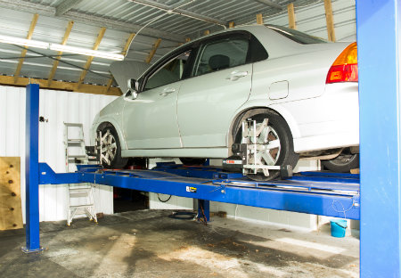 Car Fitted with Wheel Alignment gear Small
