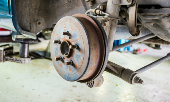 Brake drum on car 550